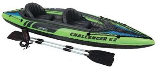 Canoa gonfiabile INTEX 68306 per due persone Challenger K2 Kayak 351 x 76 cm