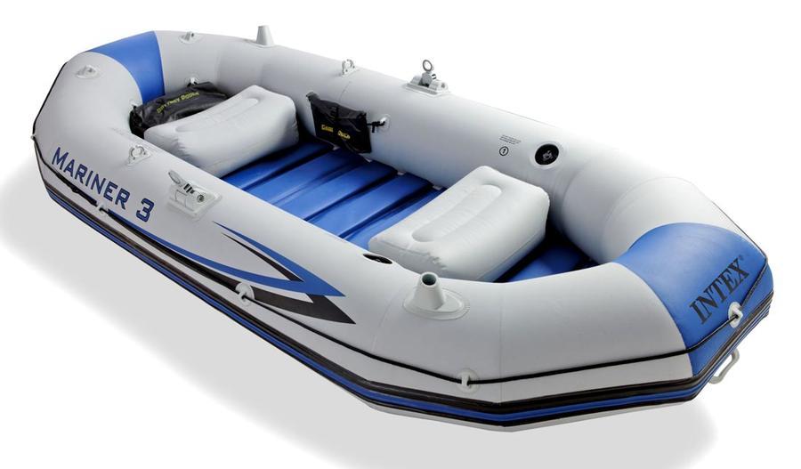 Gommone canotto gonfiabile 3 posti accessori professionale MARINER 3 INTEX  68373 Set Completo 297x127 cm