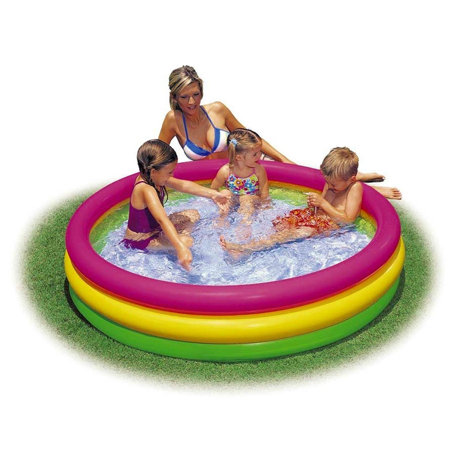 Piscina 3 anelli colorati 114x25cm intex 57412 for Piscine gonfiabili on line