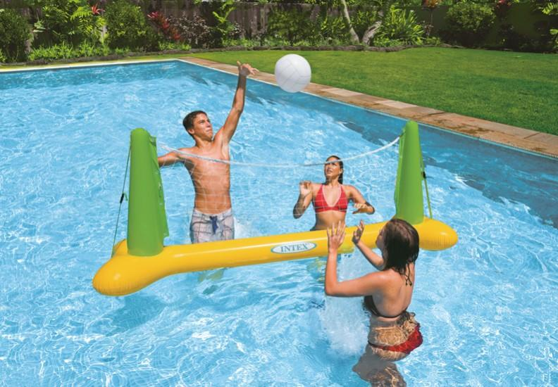 Rete pallavolo 56508 INTEX gonfiabile gigante da piscina con palla cm. 239x64x91