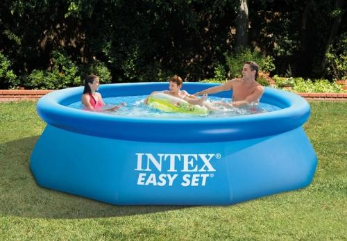 Intex 28112 easy set piscina fuori terra gonfiabile - Piscina gonfiabile amazon ...