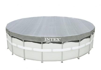 Telo copertura piscine Intex 28040 universale fuori terra rotonda 488 cm grande Deluxe