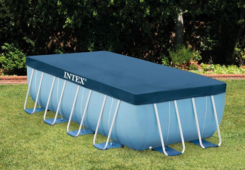 Telo di copertura intex 28037 universale per piscine rettangolari con misura 400 x 200 cm il - Piscine fuori terra rettangolari ...