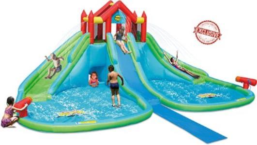 Castello immenso gonfiabile per bambini acquatico HAPPY HOP GIGANTE ACQUATICO SCIVOLI WET & DRY 9283
