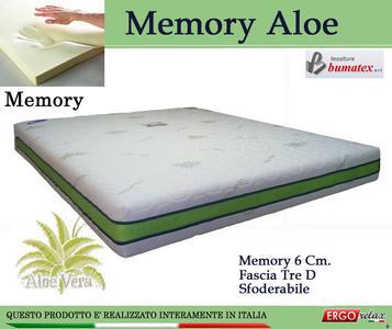 Materasso Memory Mod Memory Aloe Singolo da Cm 80x190/195/200 Sfoderabile - Ergorelax