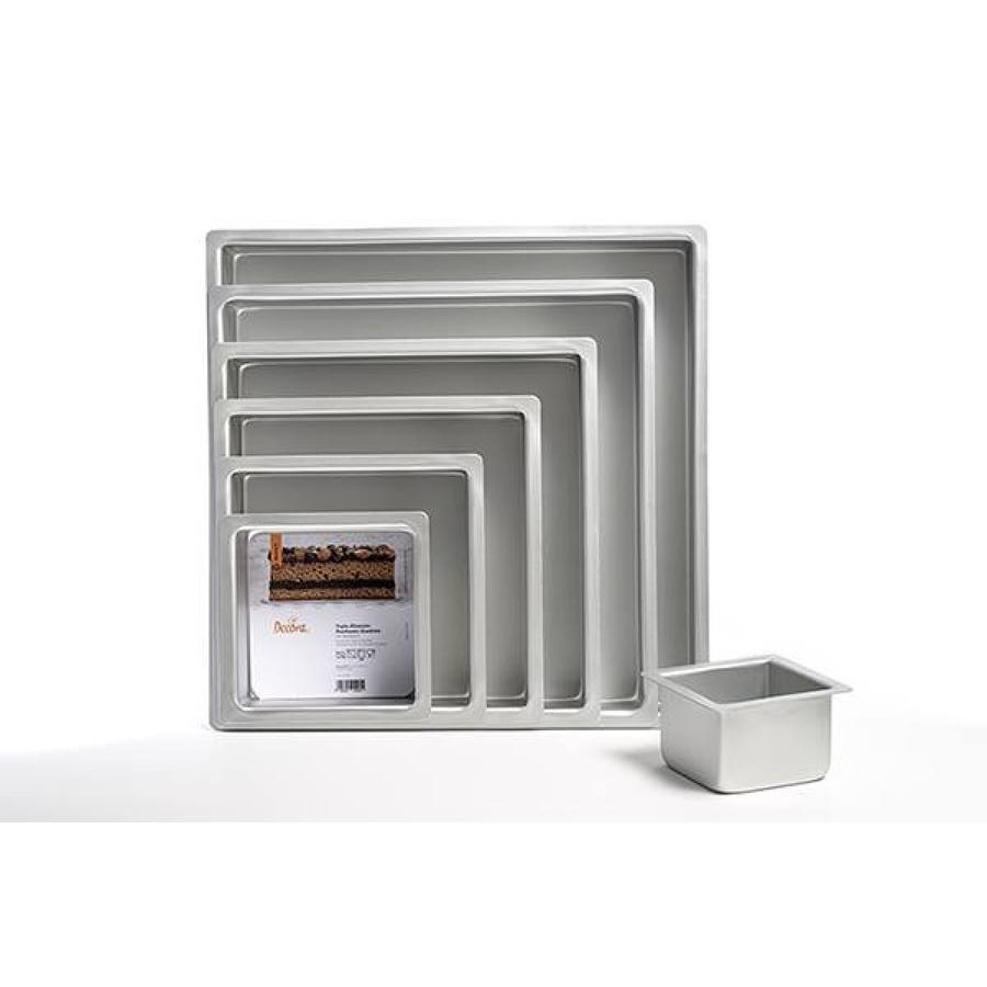 Teglia alluminio professionale anodizzata quadrata cm 25