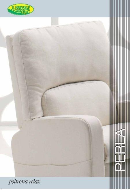Poltrona Relax Elettrica con Alzapersona Sfoderabile  Mod. Perla