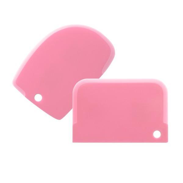 Set 2 spatole  flessibili per livellare creme