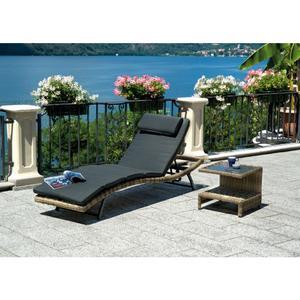 Lettino prendisole da giardino TRINIDAD in color Grey Kubu con schienale reclinabile CLW63 TRINITAD