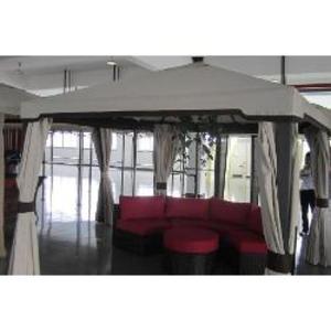 Telo ricambio in textilene spalmato PVC impermeabile Gazebo KIOTO 3x3
