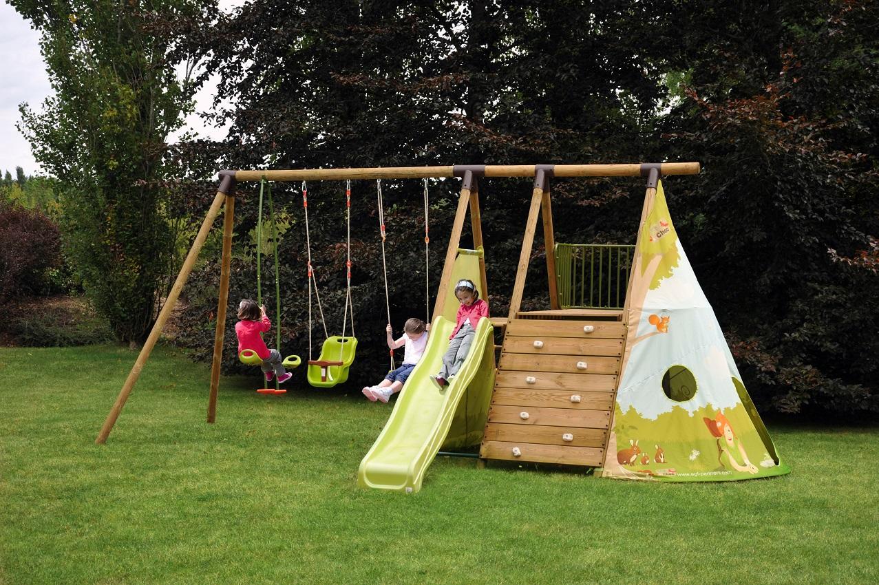 Giochi Per Bambini In Giardino area giochi per bambini da giardino fort jungle 2 altalene cavalluccio  arrampicata e scivolo con scaletta agl1368