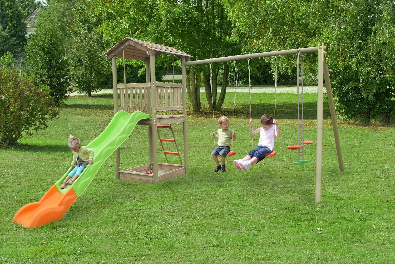 Giochi Per Bambini In Giardino area giochi per bambini da giardino yellowstone 2 altalene cavalluccio  scivolo con torretta scaletta e sabbiera agm1372