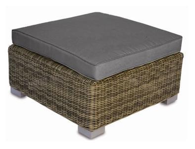 Tavolino da giardino ANTIGUA in wicker con cuscini grigi sfoderabili SET COMPONIBILE CHW 68