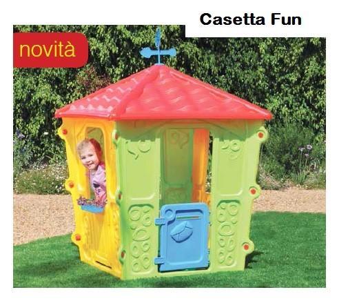 Casetta per bambini in plastica da esterno fun altezza 152 for Casetta chicco villa