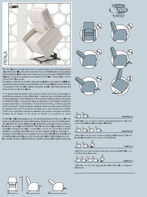 Poltrona Relax Elettrica con 2 Motori e Alzapersona Sfoderabile  Mod. Paola Prodotto Italiano