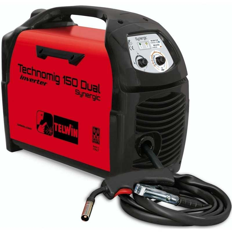 Saldatrice ad INVERTER TELWIN TECHNOMIG 150 dual synergic 150A MIG-MAG FLUX TELWIN 816050