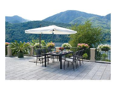 Ombrellone da giardino rettangolare 3 x 2 fusto antracite alluminio 5015