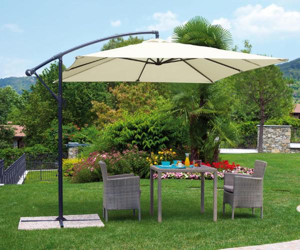 Descrizione completa ombrellone moderno quadrato a braccio laterale