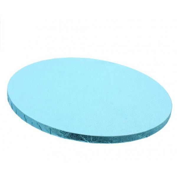 Vassoio rotondo azzurro rigido cm 40