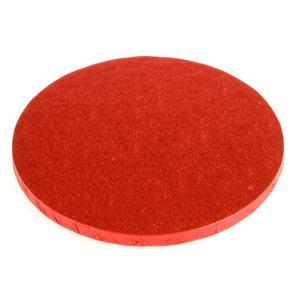 Vassoio rotondo rosso rigido cm 30