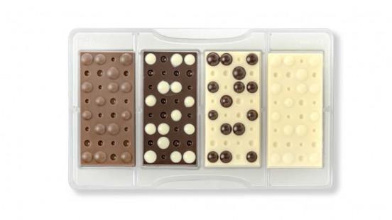 Stampo cioccolato tavoletta bolle