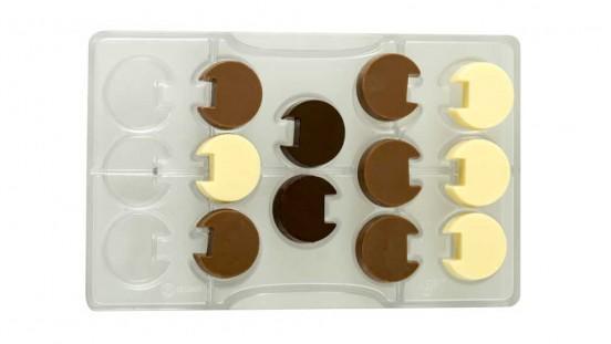 Stampo cioccolato tondo incastro