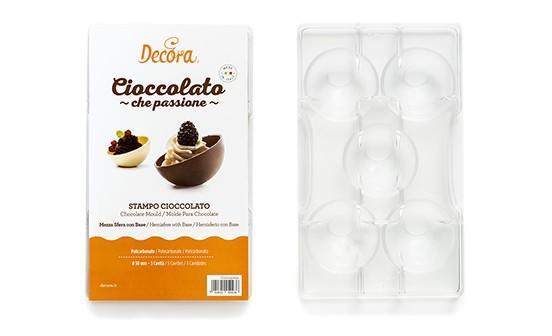 Stampo cioccolato mezza sfera con base cm 5