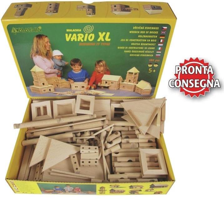Costruzioni in Legno Naturale per Bambini Kit da 184 pezzi Walachia - Offerta