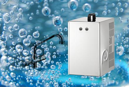 Erogatore sottolavello acqua naturale fredda,frizzante e ambiente completo di miscelatore cinque vie e impianto di depurazione Everpure.