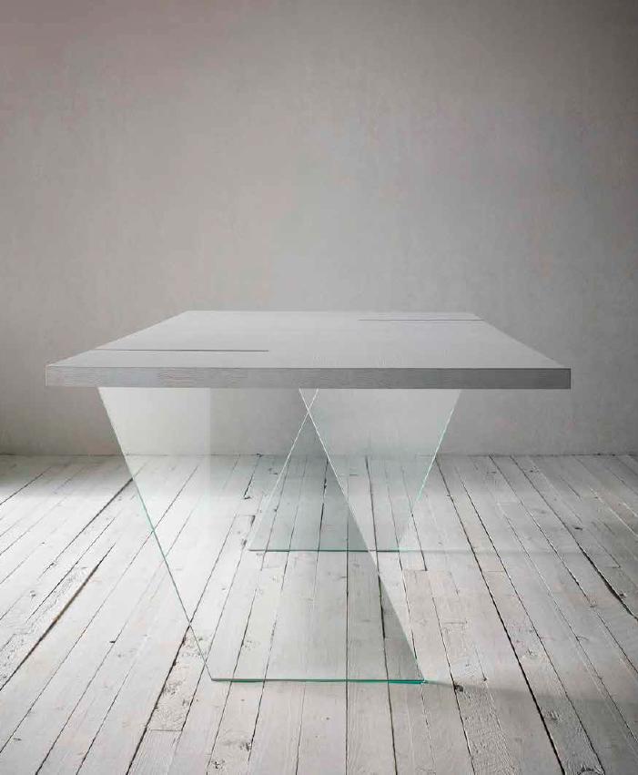 Tavolo da pranzo mod fly di sedit varie finiture for Misure tavolo pranzo