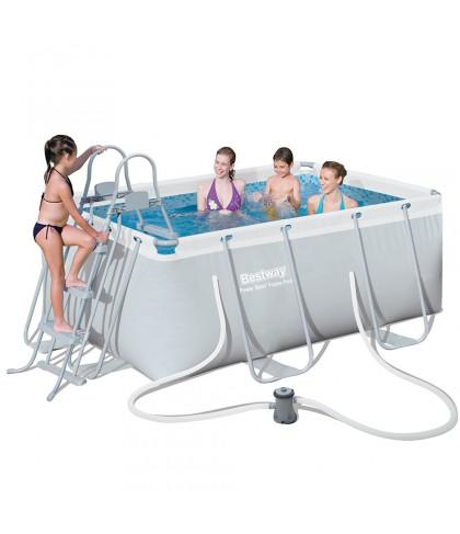 Bestway piscina fuoriterra struttura 287x201x100cm pompa - Piscina bestway opinioni ...