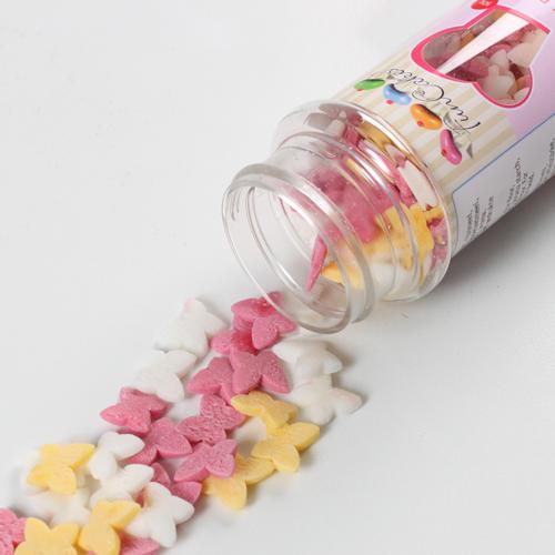 Conf. 50 gr farfalle commestibili rosa, bianche e gialle Funcakes