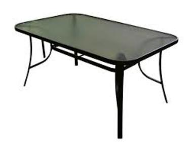 Tavolo da esterno SORRENTO in alluminio grigio antracite e piano in vetro temperato 153 X 98 RTY 18