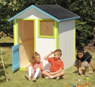Casetta da esterno in legno RIBES per bambini cod.CL1387 misura cm 140 x 145 H 160