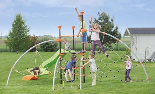 AREA GIOCHI per bambini in metallo DISCOVERY IN METALLO scivolo arrampicata e dondolo