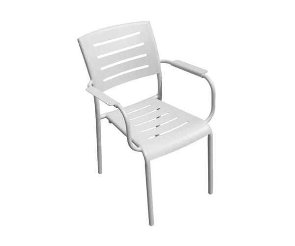 SEDIA da giardino CECINA alluminio sandy bianco CHA 20