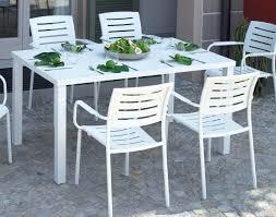 GARDEN TAVOLO da giardino PIOMBINO 150x90 cm alluminio sandy BIANCO RTA 23