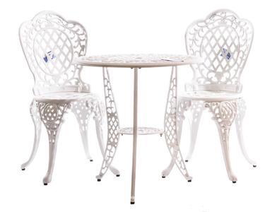 Salotto da giardino MISSISSIPPI 2 sedie e tavolino in alluminio