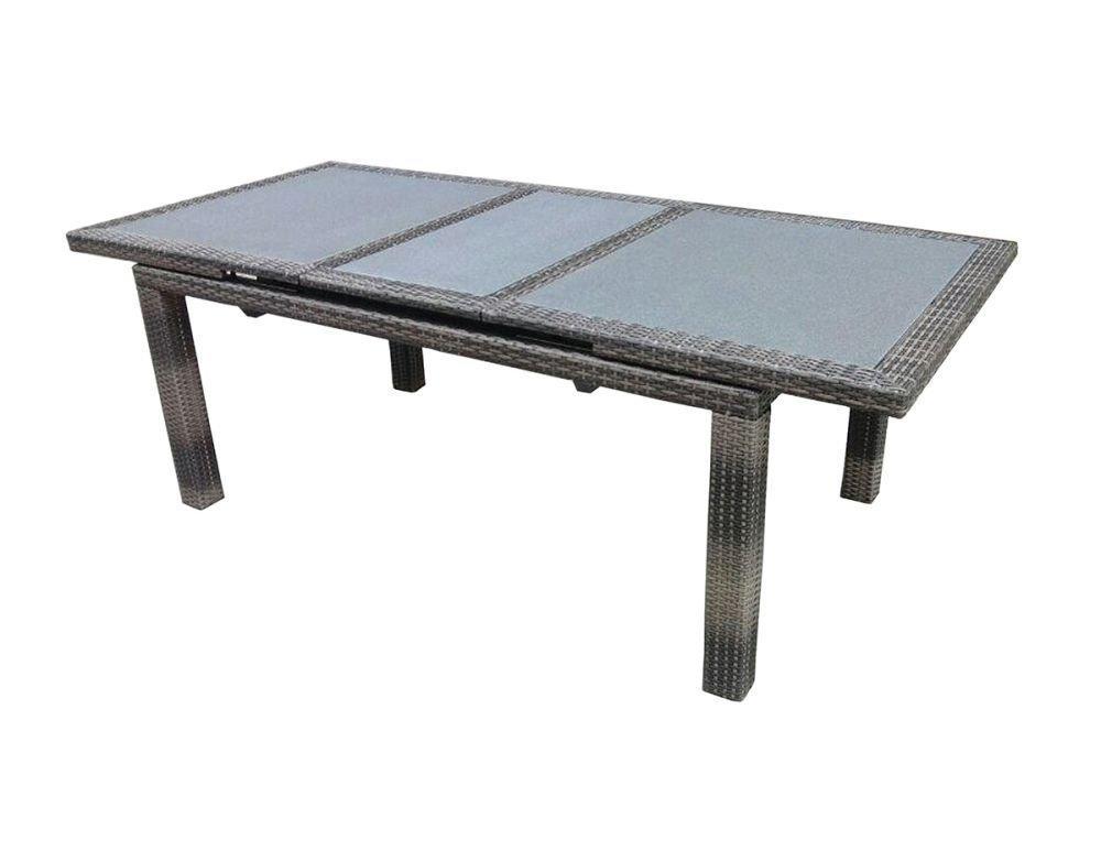 Tavolo poitiers allungabile 170 220x100cm wicker for Tavoli x esterno