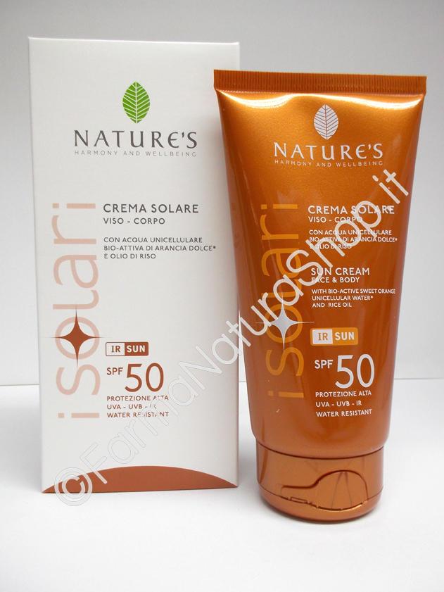 NATURE'S CREMA SOLARE VISO - CORPO SPF50