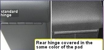 optional covered rear hinge for armrest