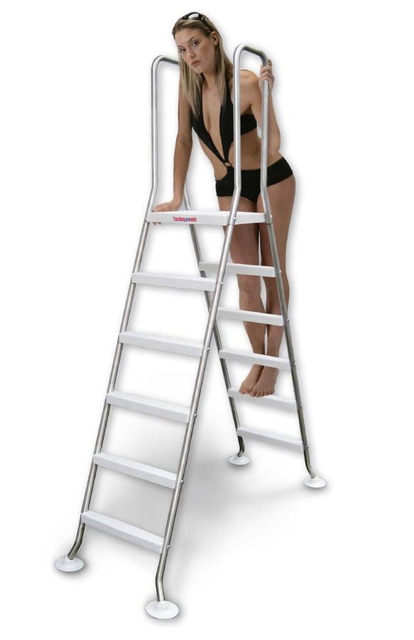 Scaletta SPACE INOX  TOP per piscine fino a 150 cm di altezza di qualità