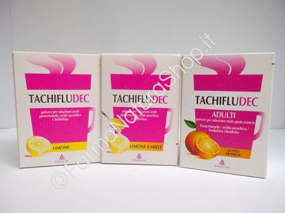 TACHIFLUDEC Bustine Limone - Limone e Miele - Arancio