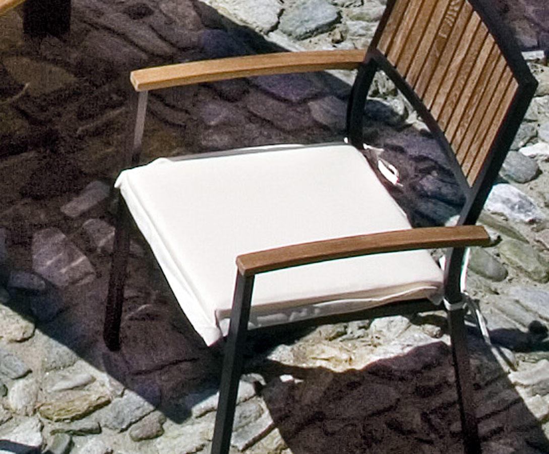 /ÖkoTex100 Nastri di Fissaggio Diluma Cuscino per Sedia da Giardino con Schienale Basso Naxos 98 x 49 x 6 cm EU Disegno:Quadrati Antracite Quantit/à:x1 Foam Core