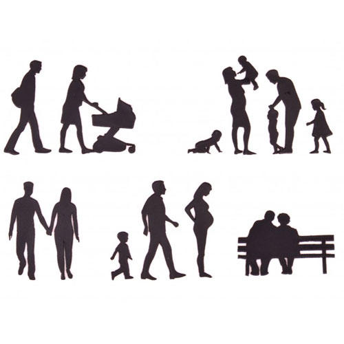 Stampo a impressione famiglia