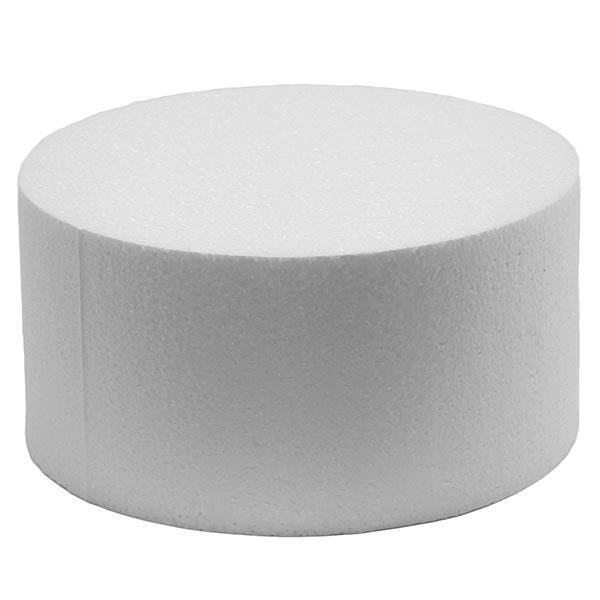 disco polistirolo rotondo alto cm 7,5, diametro cm 15