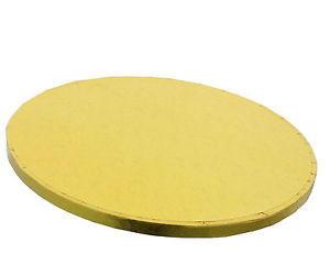 Vassoio rotondo dorato rigido cm 40