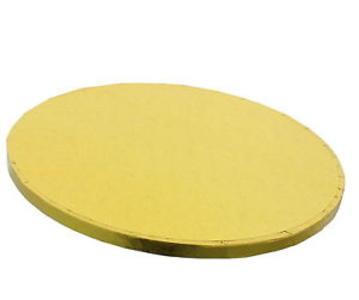Vassoio rotondo dorato rigido cm 30