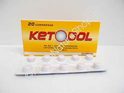 KETODOL 25 mg + 200 mg compresse
