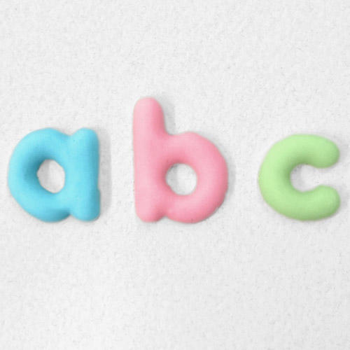 stampo silicone alfabeto arrotondato Katie Sue
